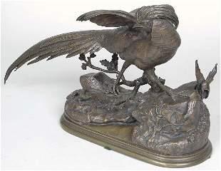 J. Moigniez (French 1835-1894) Bronze Pheasant