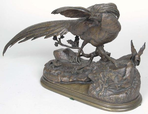18: J. Moigniez (French 1835-1894) Bronze Pheasant