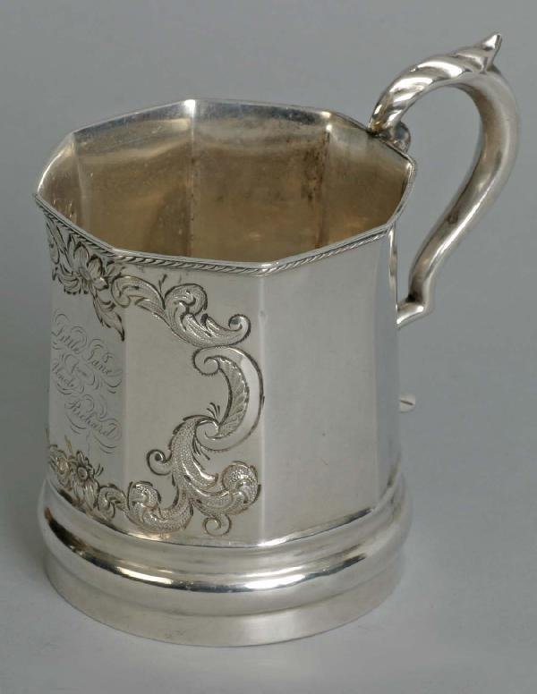 19: American Coin Silver Child's Cup, NY