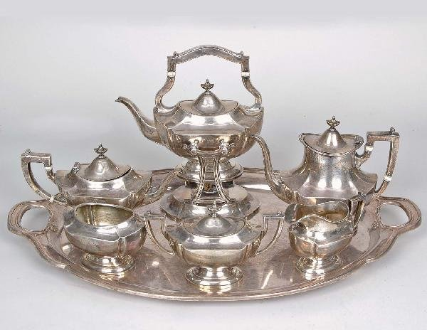 20: Sterling 7 Pc. Tea Set, Reed & Barton,  201 T. O.