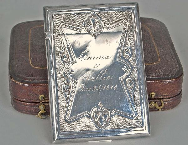 22: 19th C. American Whiting Sterling Card Case C. 1870