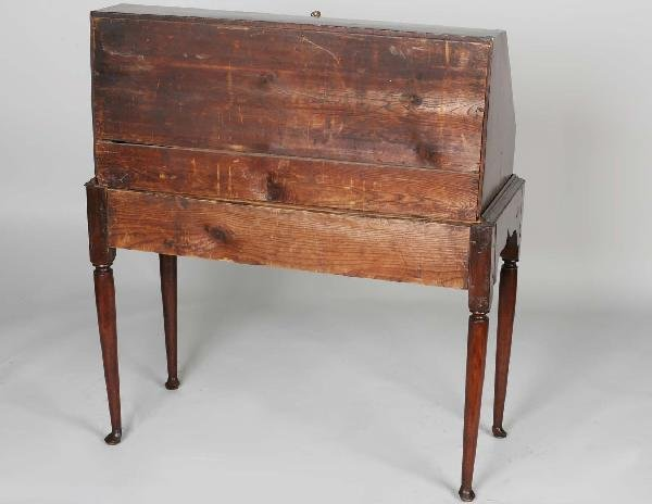 75: 18th C. CT Maple Queen Anne Desk On Frame - 3