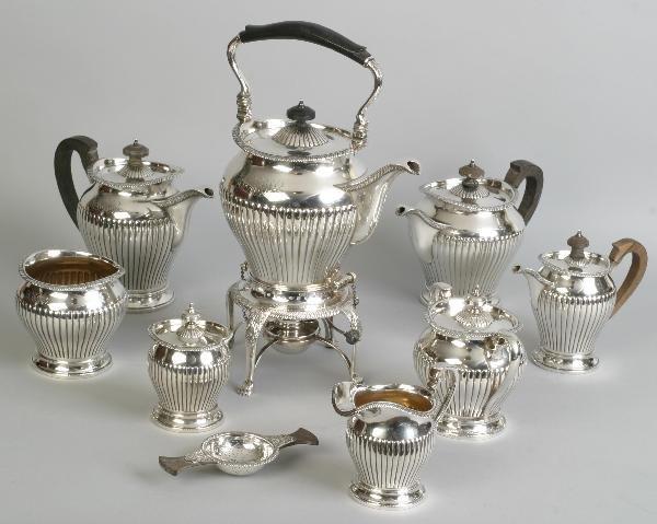173: Imp. Am. Sterling 9  Pc.Tea & Coffee Set,