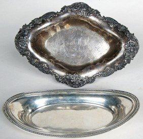 GORHAM STERLING SERVING DISH, LATE 19TH C., Togethe