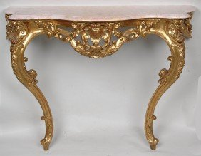 FRENCH LOUIS XV STYLE CONSOLE TABLE, LATE 20TH C. H