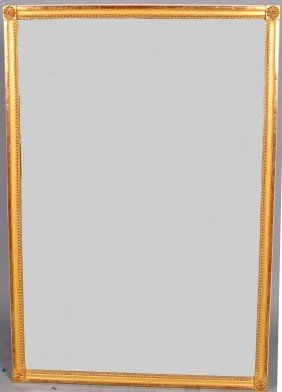 MONUMENTAL CONTINENTAL GILT MIRROR, Of Rectangular