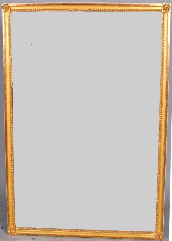 43: MONUMENTAL CONTINENTAL GILT MIRROR, of rectangular