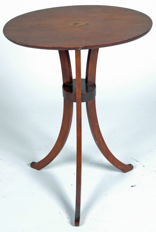 55: HARTFORD, CT FEDERAL CHERRY CANDLESTAND, EARLY 19TH