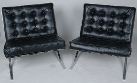 19: PAIR OF BARCELONA CHAIRS,