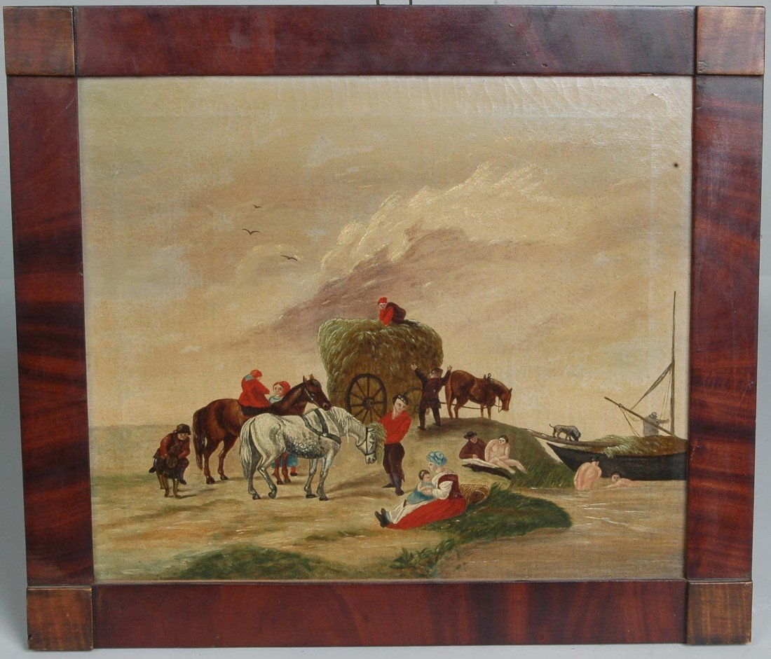 10:AM. SCHOOL, O/C EARLY 19TH C. HAYING SCENE,