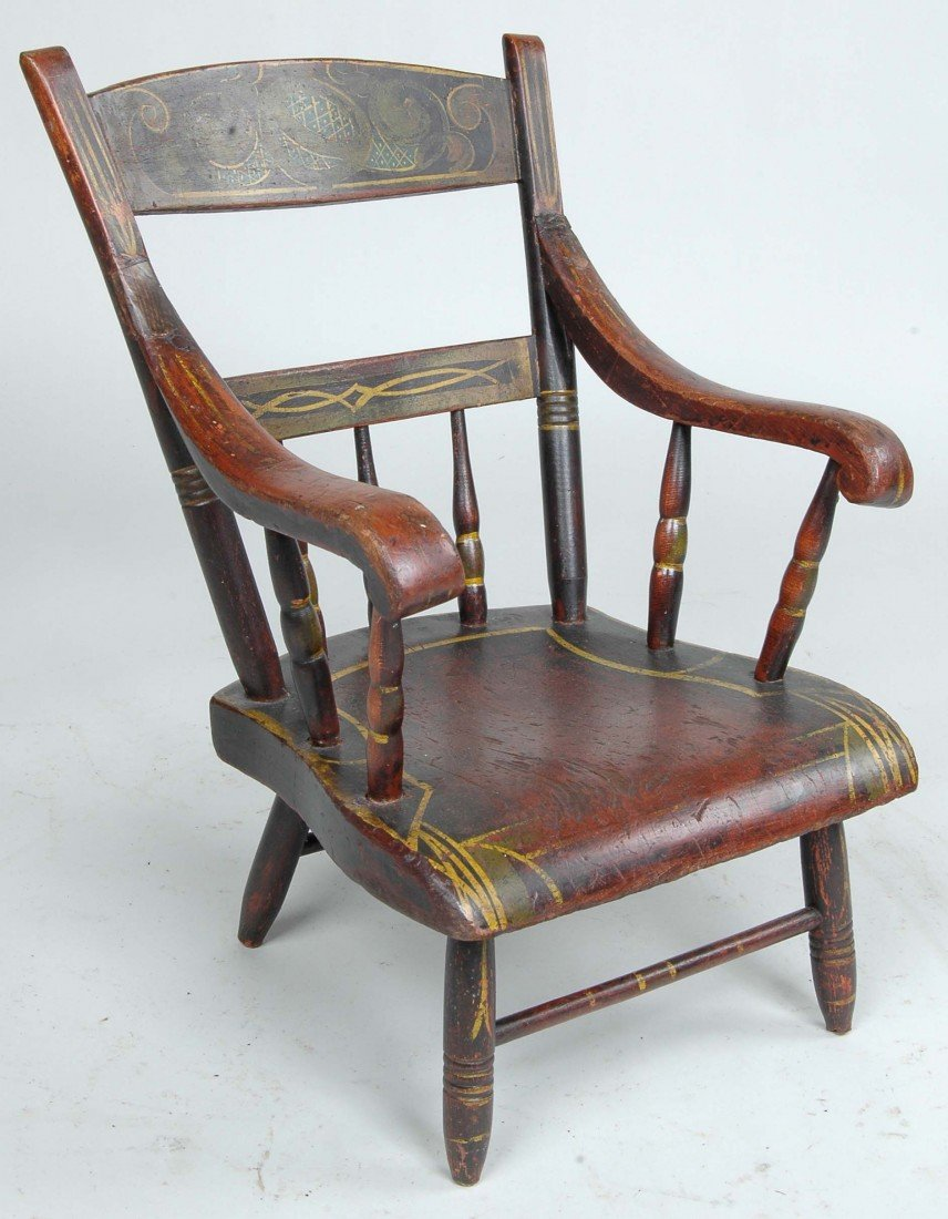 11:PENNSYLVANIA CHILD'S WINDSOR ARMCHAIR, ORIG. PAINT