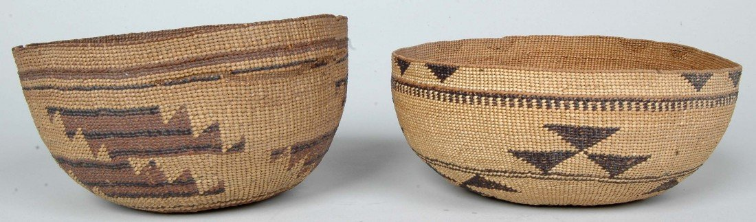 14. LOT OF 11 ANTIQUE WOVEN NATIVE AMERICAN  BASKETS - 2