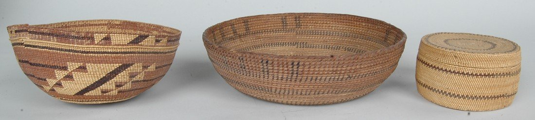 15: TWO FINE NATIVE AMERICAN INDIAN BASKETRY HATS