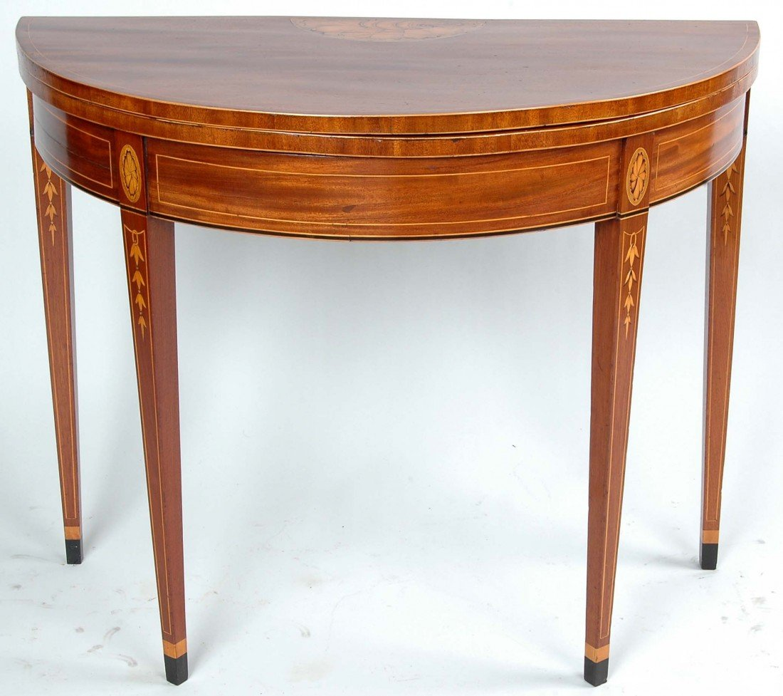 45: IMPORTANT BALTIMORE HEPPLEWHITE CARD TABLE, C. 1790