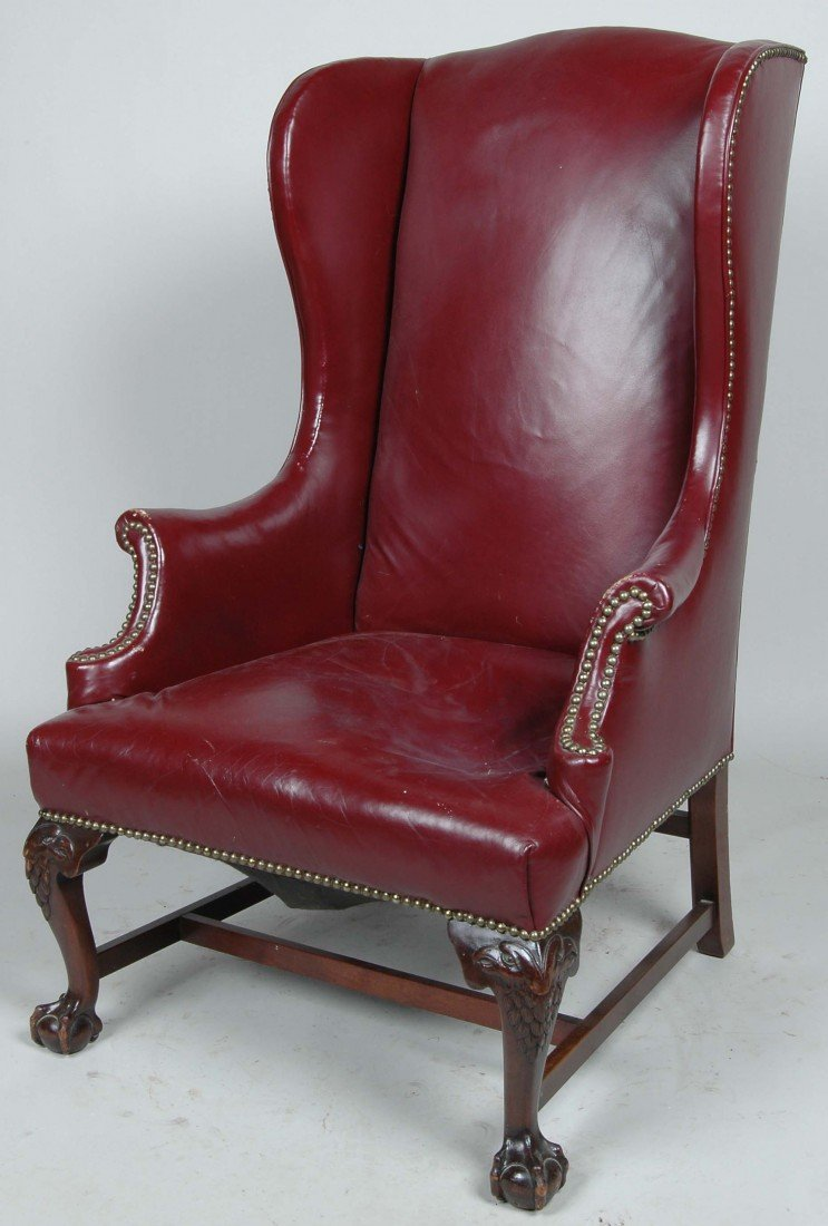 beautiful leather wingback chair