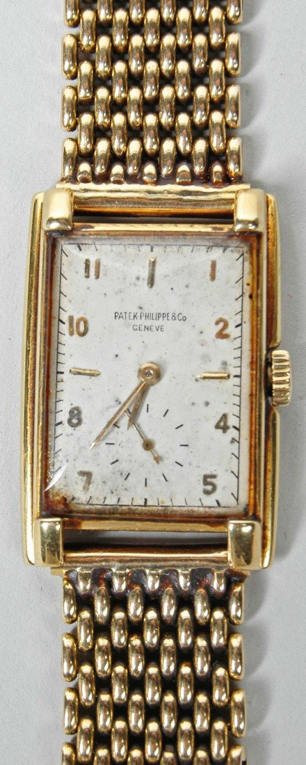 98: PATEK PHILIPPE 18KT YELLOW GOLD MAN'S WRISTWATCH