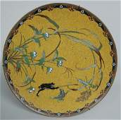 156A: IMPORTANT 19TH C. JAPANESE CLOISONNE CHARGER,