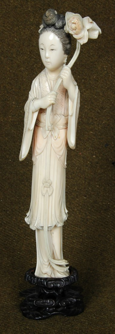 2: ANTIQUE CHINESE IVORY CARVED LADY