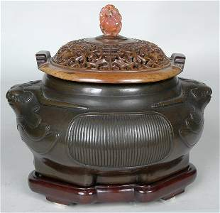4: FINE EARLY CHINESE BRONZE CENSER