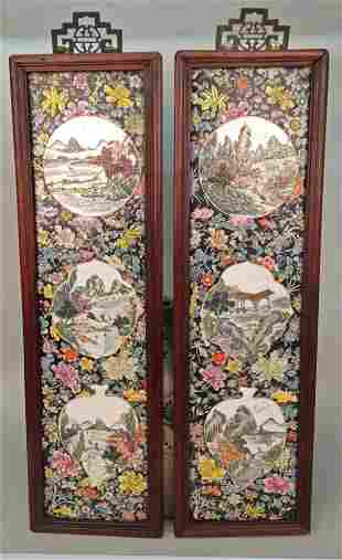 PAIR OF ANTIQUE CHINESE PORCELAIN PLAQUES