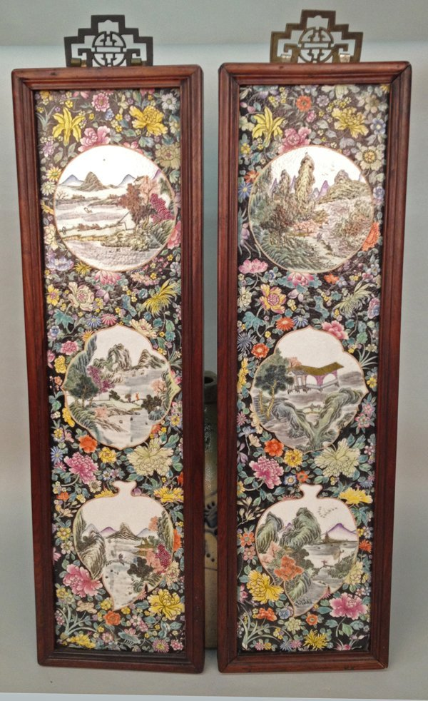 8: PAIR OF ANTIQUE CHINESE PORCELAIN PLAQUES