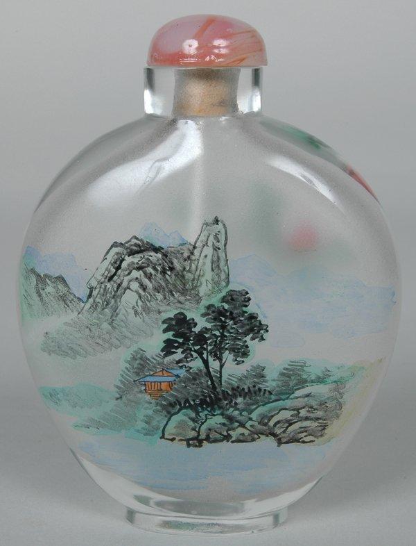 9: CHINESE PEKING GLASS SNUFF BOTTLE