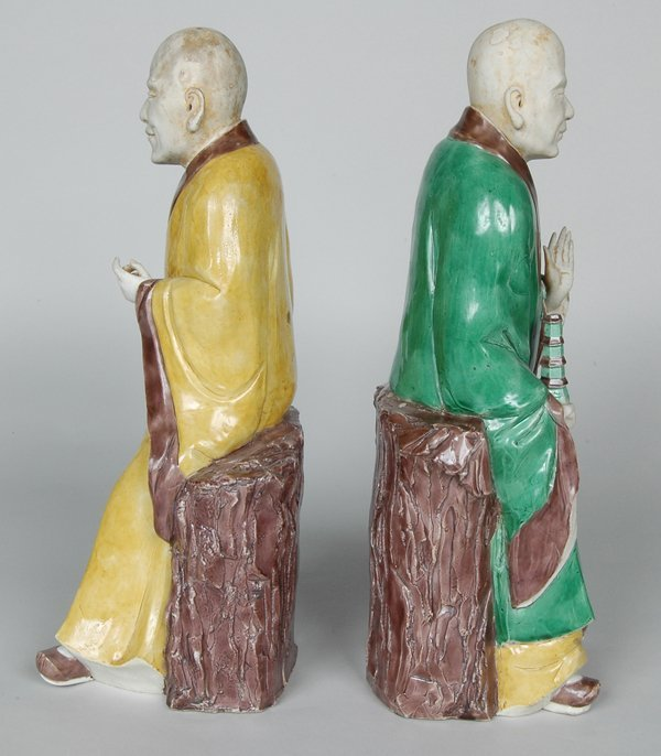 10: PAIR K'ANG HIS POLYCHROME FIGURES - 3
