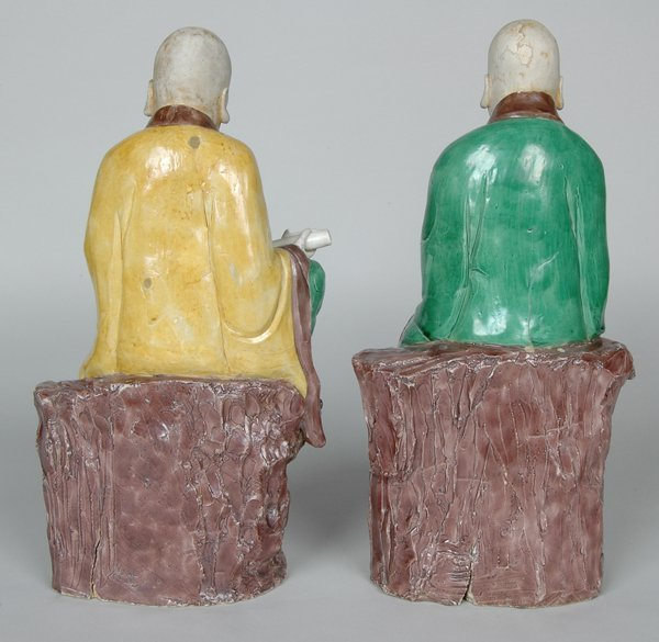 10: PAIR K'ANG HIS POLYCHROME FIGURES - 4