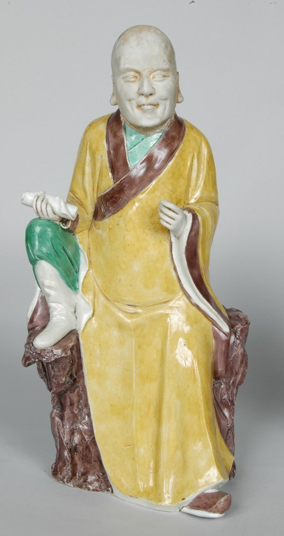 10: PAIR K'ANG HIS POLYCHROME FIGURES - 5