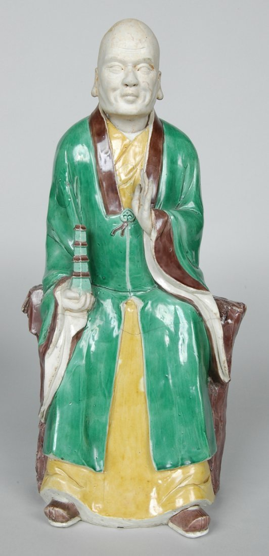 10: PAIR K'ANG HIS POLYCHROME FIGURES - 6
