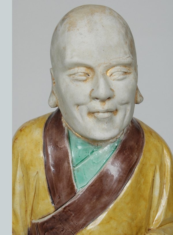 10: PAIR K'ANG HIS POLYCHROME FIGURES - 8