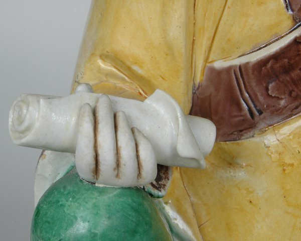 10: PAIR K'ANG HIS POLYCHROME FIGURES - 9