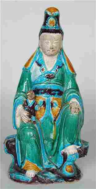 ANTIQUE CHINESE STATUE OF QUAN YIN