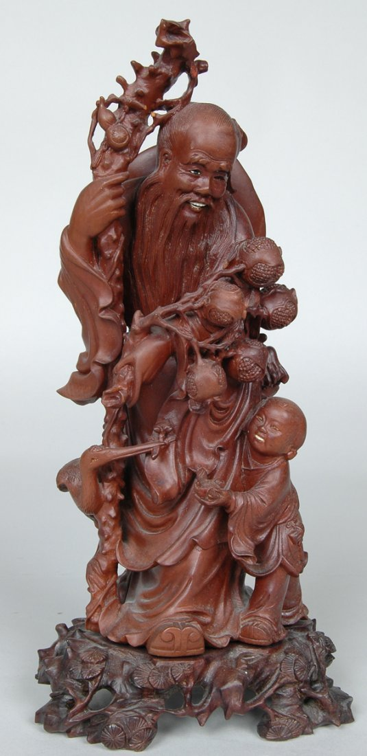 20: 19TH C. CHINESE HARDWOOD CARVED FIGURE