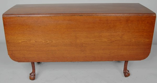 99: CHIPPENDALE CHERRY NEW YORK DINING TABLE
