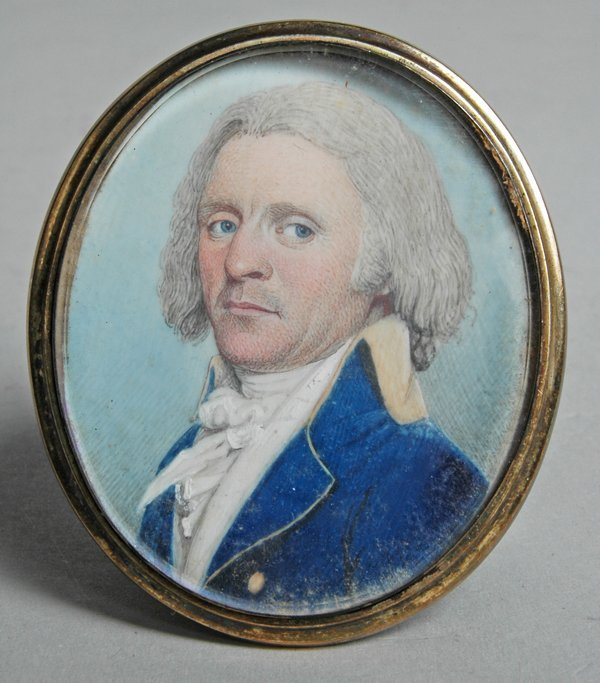 139: MINIATURE ON IVORY OF CAPTAIN JAMES SEVER