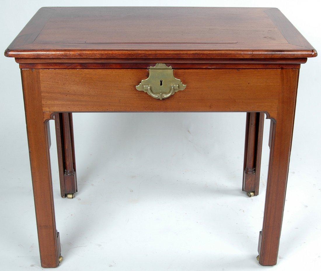 97A: 18TH C. MAHOGANY ARCHITECT'S TABLE