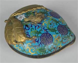 CHINESE CLOISSONE HEART FORM BOX
