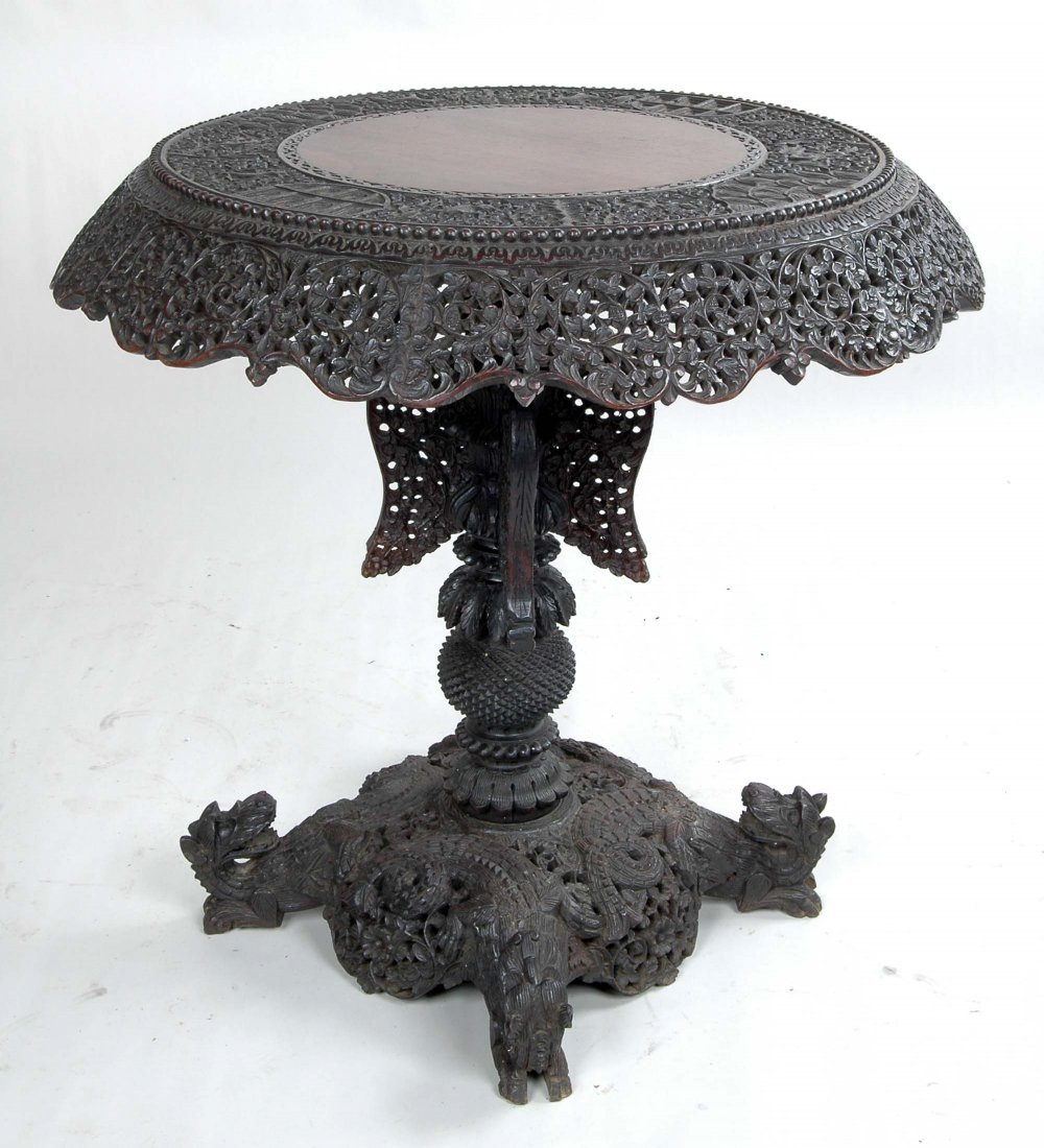 ANGLO-INDIAN HARDWOOD CENTER TABLE
