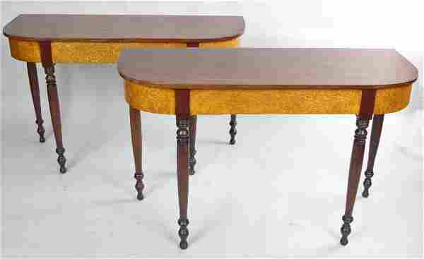 PAIR OF AMERICAN SHERATON HALL TABLES