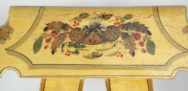 PENNSYLVANIA YELLOW WINDSOR ROCKING CHAIR, CIRCA 1835 - 2