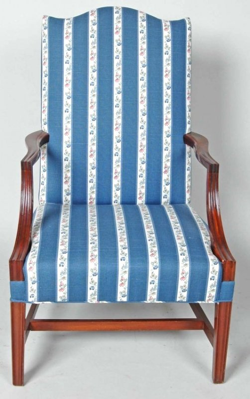 FINE  CHIPPENDALE STYLE BENCHMADE LOLLING CHAIR