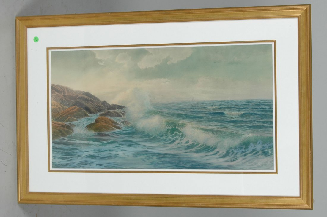 GEORGE HOWELL GAY, WATERCOLOR, SEASCAPE, 1919 - 2