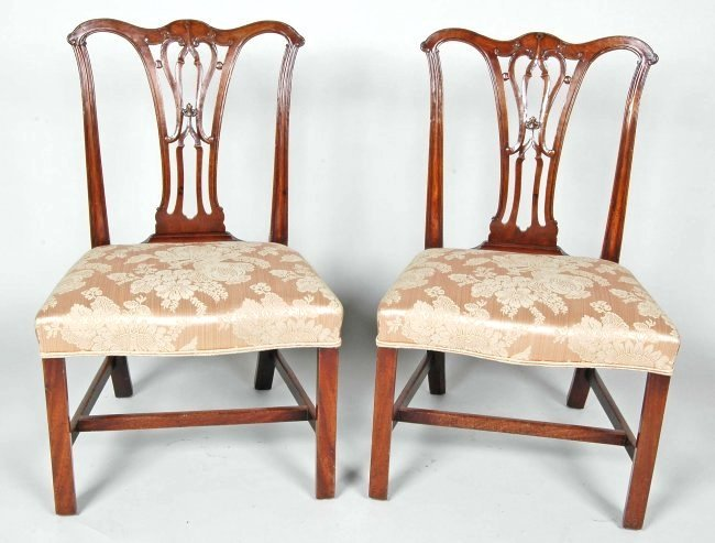 PAIR OF 18TH C. ENGLISH CHIPPENDALE CHAIRS