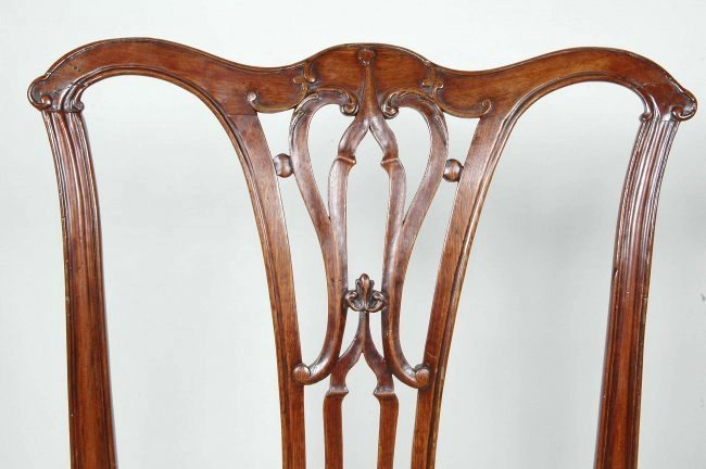 PAIR OF 18TH C. ENGLISH CHIPPENDALE CHAIRS - 2