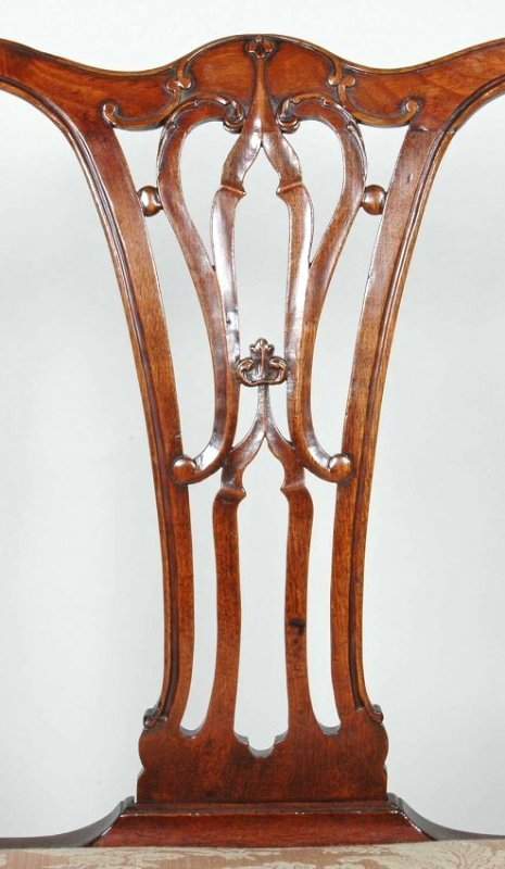 PAIR OF 18TH C. ENGLISH CHIPPENDALE CHAIRS - 3