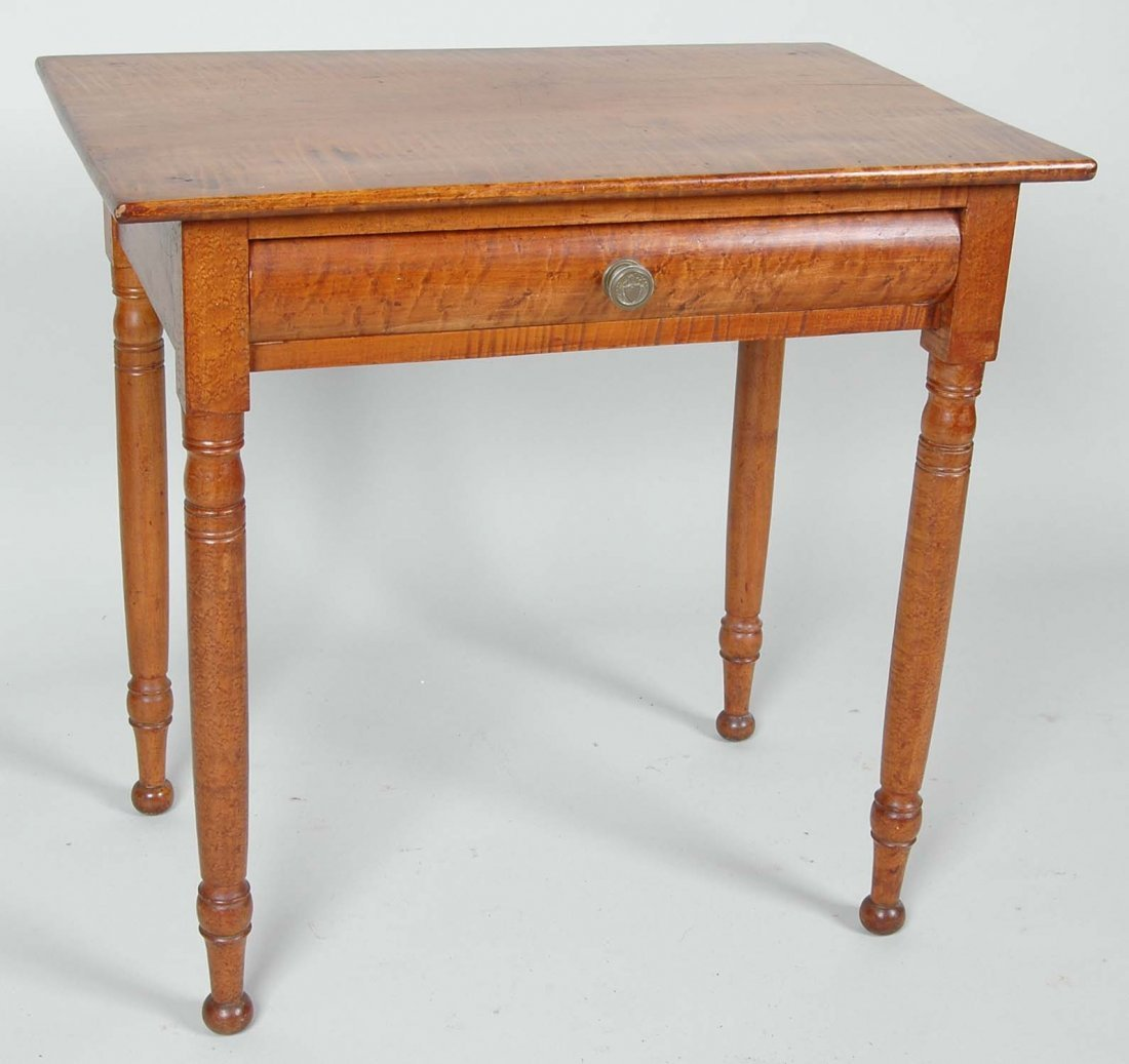 FINE SHERATON TIGER & BIRD'S EYE MAPLE SERVING TABLE
