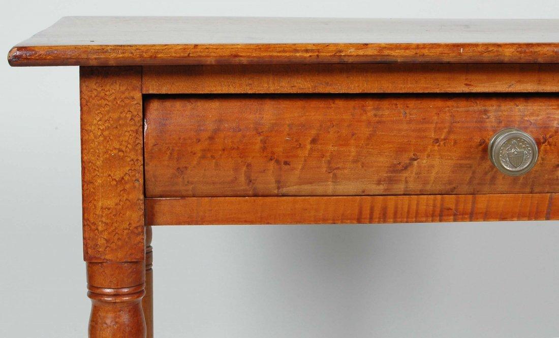 FINE SHERATON TIGER & BIRD'S EYE MAPLE SERVING TABLE - 2