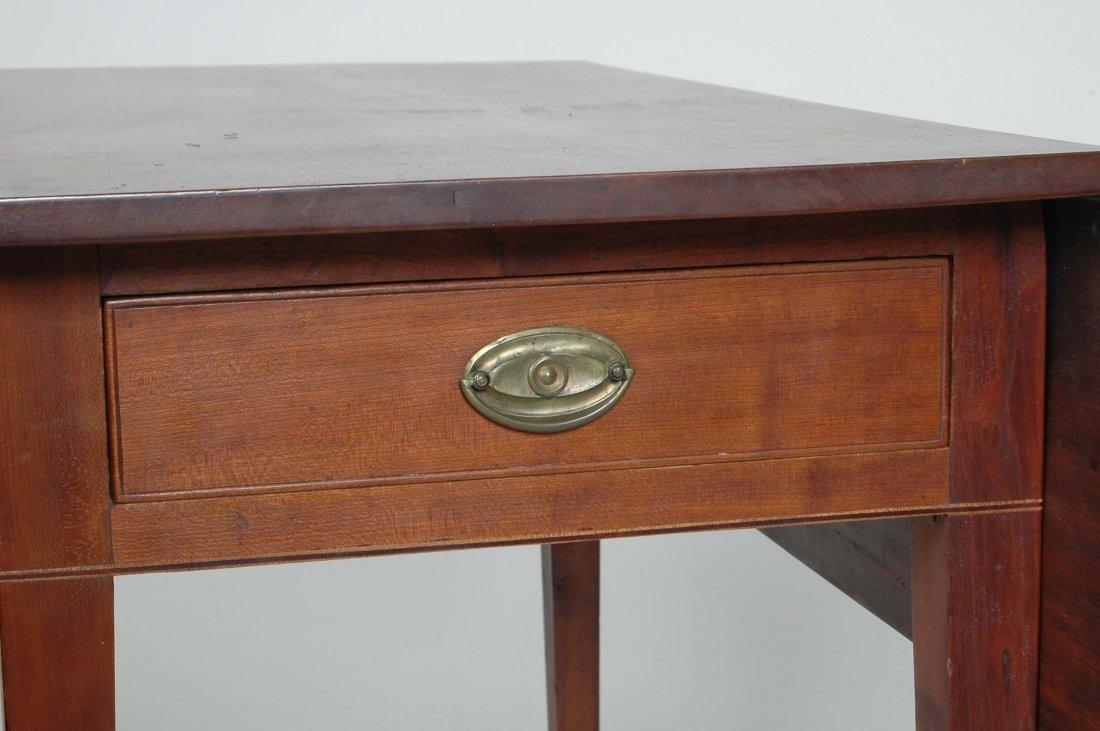 FINE AMERICAN HEPPLEWHITE CHERRY PEMBROKE TABLE - 2