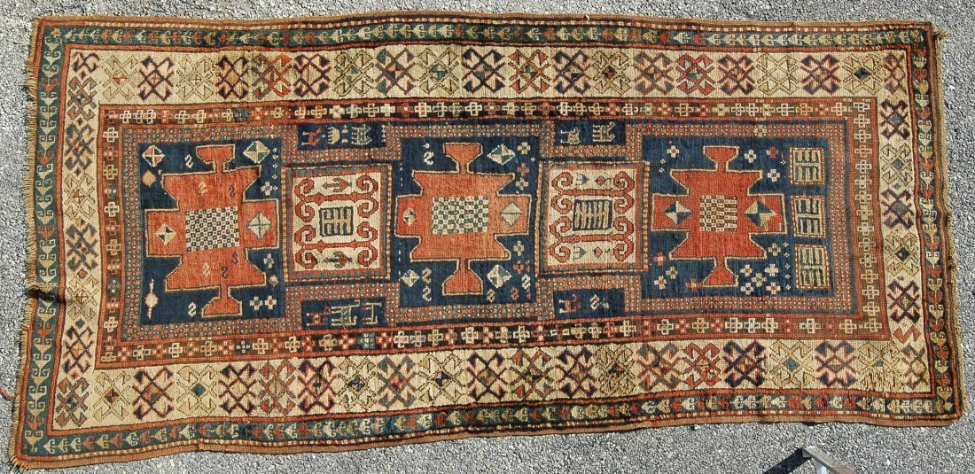 "3' 11"" X 8' 3"" KAZAK LONG RUG"